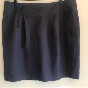 NWT Banana Republic dark pewter mini skirt size 14